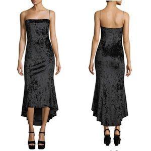 Size 2 💖 Likely Black Long Velvet Sexy Dress 💖